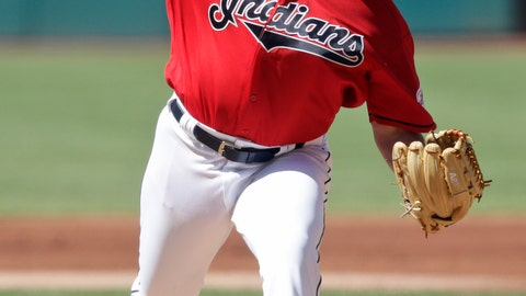 <p>               Cleveland Indians starting pitcher Aaron Civale delivers in the first inning in a baseball game against the Detroit Tigers, Saturday, June 22, 2019, in Cleveland. (AP Photo/Tony Dejak)             </p>