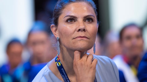 <p>               Member of the candidate for the Olympic Winter Games 2026 Stockholm-Are delegation, Crown Princess Victoria listens after International Olympic Committee (IOC) president Thomas Bach from Germany, right, announced that Milan-Cortina has won the bid to host the 2026 Winter Olympic Games, during the first day of the 134th Session of the International Olympic Committee (IOC), at the SwissTech Convention Centre, in Lausanne, Switzerland, Monday, June 24, 2019. Italy will host the 2026 Olympics in Milan and Cortina d'Ampezzo, taking the Winter Games to the Alpine country for the second time in 20 years. (Jean-Christophe Bott/Keystone via AP)             </p>