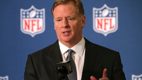 "<p>               FILE - In this Dec. 12, 2018, file photo, NFL commissioner Roger Goodell speaks during a news conference in Irving, Texas. Goodell is reiterating his stance in wanting to reduce the four-game preseason schedule at a time the league and player's association have begun preliminary talks on a new collective bargaining agreement. Goodell cites discussions he's had with coaches in saying he doesn't believe four preseason games are necessary to evaluate and develop players for the start of the regular season. He says the NFL should do everything to the highest quality, ""and I'm not sure preseason games meet that level right now."" Goodell spoke Monday, June 3, 2019, while participating in Bills' Hall of Fame quarterback Jim Kelly's 33rd charity golf tournament outside of Buffalo. (AP Photo/LM Otero, File)             </p>"