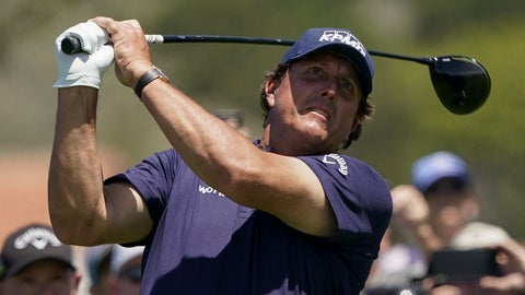 <p>               Phil Mickelson watches his tee shot on the 10th hole during a practice round for the U.S. Open Championship golf tournament, Tuesday, June 11, 2019, in Pebble Beach, Calif. (AP Photo/Carolyn Kaster)             </p>