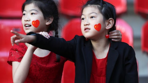 <p>               Chinese fans wait for the start of the Women's World Cup Group B soccer match between Germany and China, at the Roazhon Park stadium, in Rennes, France, Saturday, June 8, 2019. (AP Photo/David Vincent)             </p>
