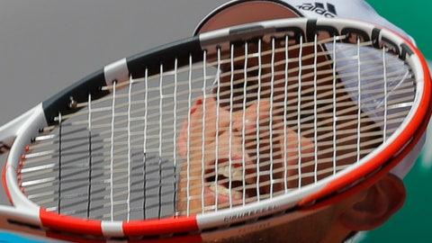 <p>               Austria's Dominic Thiem plays a shot against Uruguay's Pablo Cuevas during their third round match of the French Open tennis tournament at the Roland Garros stadium in Paris, Saturday, June 1, 2019. (AP Photo/Michel Euler)             </p>