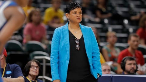<p>               Indiana Fever head coach Pokey Chatman watches during the first half of a WNBA basketball game against the Minnesota Lynx, Tuesday, June 25, 2019, in Indianapolis. (AP Photo/Darron Cummings)             </p>