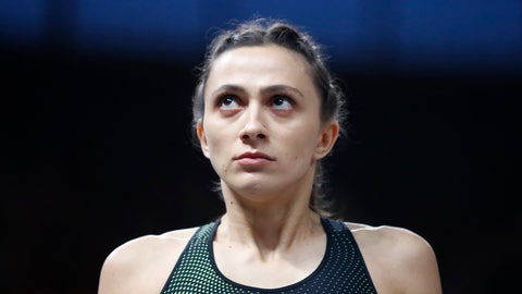 <p>               FILE - In this Friday, Aug. 10, 2018 file photo, Russia's Mariya Lasitskene looks on in the women's high jump final at the European Athletics Championships at the Olympic stadium in Berlin, Germany. The only Russian track athlete currently holding a world title says the country's top officials and coaches in the sport should be replaced because of the slow pace of anti-doping reforms. High jumper Mariya Lasitskene's message comes after Russia's ban from international track and field was prolonged on Sunday, June 9, 2019. (AP Photo/Matthias Schrader, file)             </p>