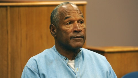 """<p>               FILE - In this July 20, 2017 file photo, former NFL football star O.J. Simpson appears via video for his parole hearing at the Lovelock Correctional Center in Lovelock, Nev.  Simpson has launched a Twitter account with a video post in which the former football star says he's got a """"little gettin' even to do."""" Simpson confirmed the new account to The Associated Press on Saturday, June 15, 2019. Simpson said in a phone interview it will be a lot of fun and that he had some things to straighten out. (Jason Bean/The Reno Gazette-Journal via AP, Pool, File)             </p>"""