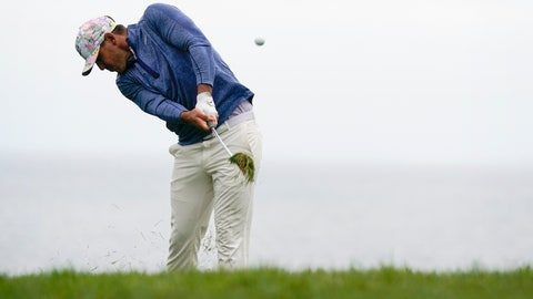<p>               Brooks Koepka hits from the rough on the 11th hole during the first round of the U.S. Open Championship golf tournament Thursday, June 13, 2019, in Pebble Beach, Calif. (AP Photo/David J. Phillip)             </p>