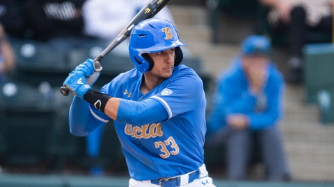 <p>               FILE - In this March 3, 2019, file photo, UCLA's Chase Strumpf bats during the team's NCAA college baseball game against Sacramento State in Los Angeles. UCLA plays Michigan this week in the NCAA tournament super regionals. Strumpf was one of a program-record 13 players selected during the MLB draft. Strumpf found out he was selected in the second round by the Chicago Cubs after hitting a three-run home run in the Bruins' 6-3 win over Loyola Marymount in the Los Angeles regional final. (AP Photo/Kyusung Gong, File)             </p>