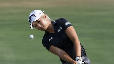 <p>               FILE - In this June 2, 2019, file photo, Jeongeun Lee6, of South Korea, chips to the 16th green during the final round of the U.S. Women's Open golf tournament, in Charleston, S.C. Hazeltine has a recent history of shockers, whether it was Rich Beem or Y.E. Yang winning the PGA Championship or the Americans winning the Ryder Cup. Now it hosts the Women's PGA Championship, a major that is rising to the top with the courses it plays. Women's Open champion Jeongeun Lee6 will be part of a strong field that features 99 or the 100 on the LPGA money list.  (AP Photo/Steve Helber, File)             </p>