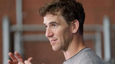 <p>               New York Giants quarterback Eli Manning speaks during a news conference at the team's NFL football training facility Wednesday, June 5, 2019, in East Rutherford, N.J. (AP Photo/Frank Franklin II)             </p>