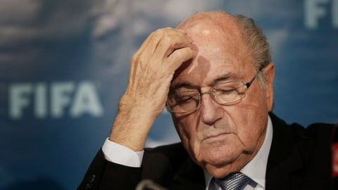 """<p>               FILE - In this Dec. 19, 2014 file photo then FIFA President Sepp Blatter attends a news conference in Marrakech, Morocco. Switzerland's federal criminal court on Tuesday, June 18, 2019 says it recused attorney general Michael Lauber from overseeing a sweeping criminal investigation of FIFA officials. Former FIFA president Sepp Blatter, who has been a criminal suspect since September 2015 yet never charged, tells The Associated Press: """"Now I got part of my trust and confidence in the Swiss justice back."""" (AP Photo/Christophe Ena, File)             </p>"""
