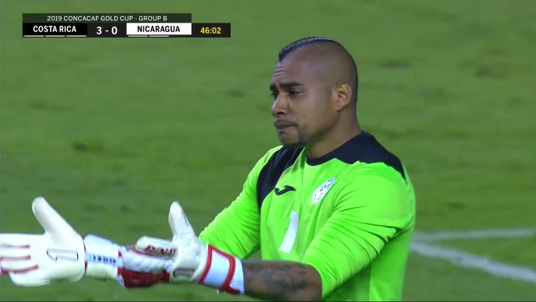 Nicaragua goalie caught napping as Costa Rica steals cheap goal late in first half