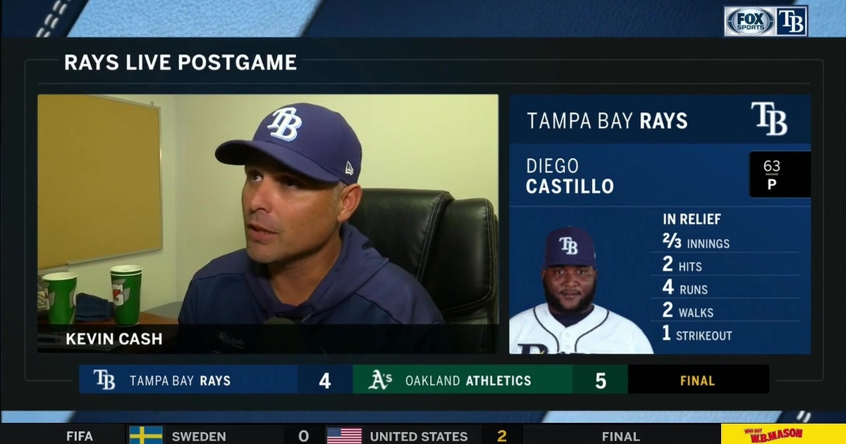 Kevin Cash recaps Rays' walk-off loss to A's