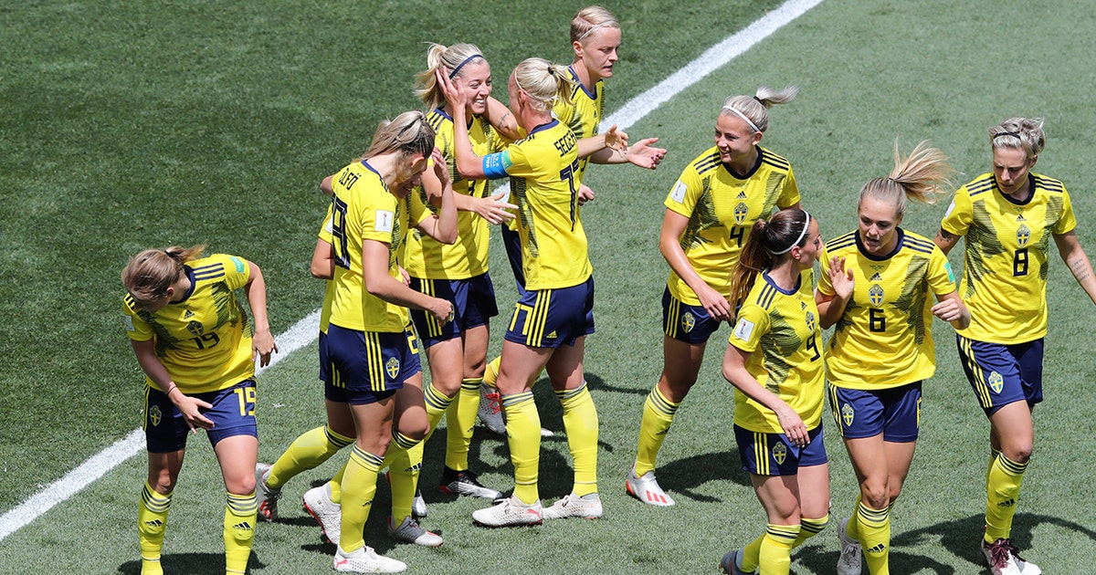 ca93c7e5 2019 FIFA Women's World Cup™: Sweden score the header vs. Thailand just six  minutes in | HIGHLIGHTS