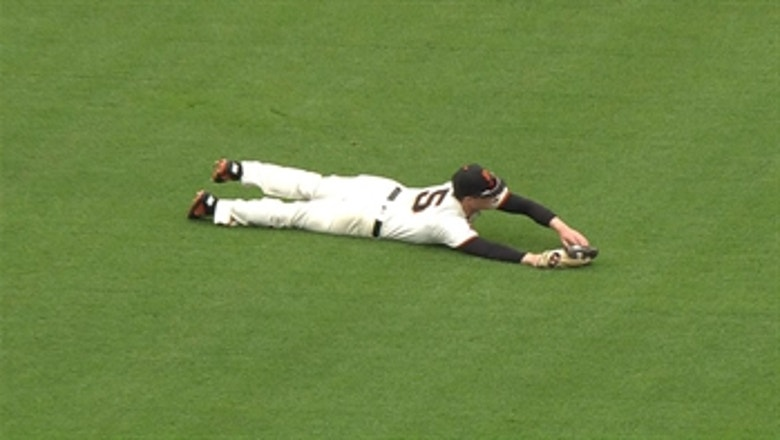 Mike Yastrzemski makes diving catch for final out as Giants top Brewers