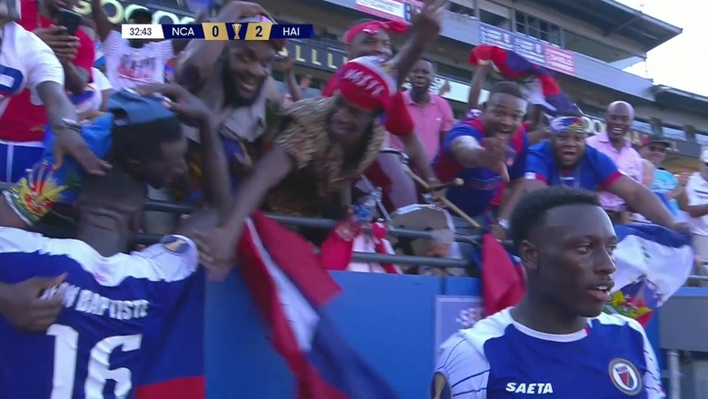 Haiti celebrates with rowdy fans after 2-0 win over Nicaragua | 2019 CONCACAF Gold Cup Highlights