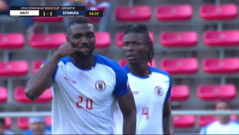 Haiti fakes confusion on set play, nets header equalizer vs. Bermuda