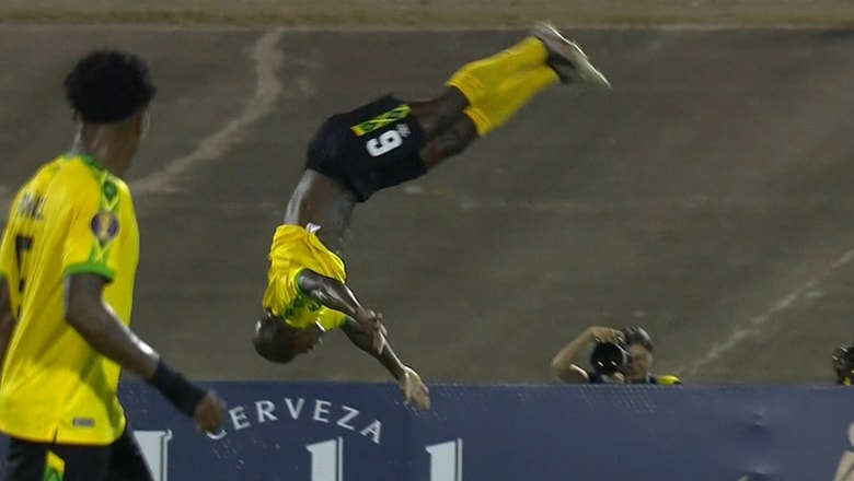 Dever Orgill celebrates opening goal for Jamaica with epic backflip vs. Honduras | 2019 CONCACAF Gold Cup Highlights