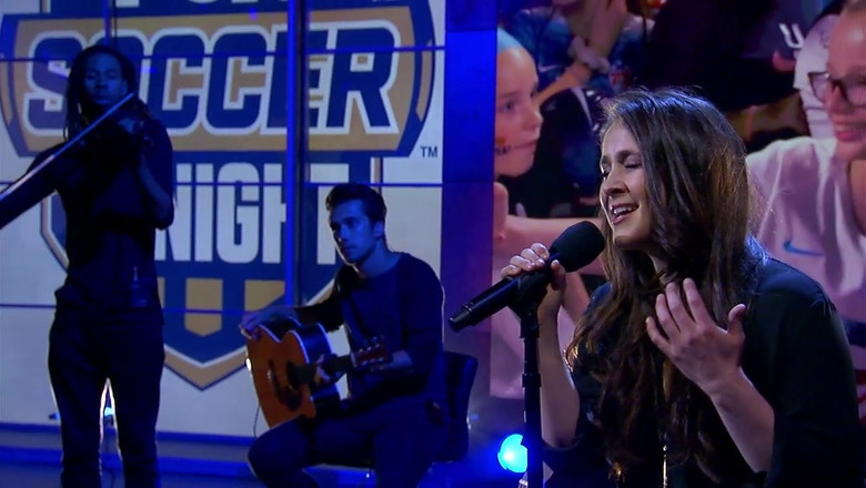 Leslie Powell performs 'Rise' live | FOX Sports