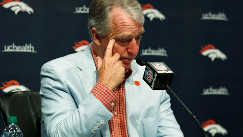 <p>               Joe Ellis, president and chief executive officer of the Denver Broncos, talks about the death of team owner Pat Bowlen during a news conference Monday, June 17, 2019, at the NFL football team's headquarters in Englewood, Colo. (AP Photo/David Zalubowski)             </p>