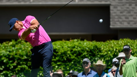 <p>               Brooks Koepka tees off on the second hole during the first round of the Canadian Open golf tournament, Thursday, June 6, 2019, in Hamilton, Ontario. (Andrew Lahodynskyj/The Canadian Press via AP)             </p>