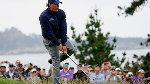 <p>               Phil Mickelson reacts to a shot on the 12th hole during the second round of the U.S. Open golf tournament Friday, June 14, 2019, in Pebble Beach, Calif. (AP Photo/Carolyn Kaster)             </p>