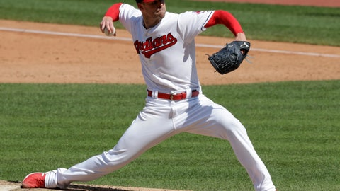 <p>               FILE - In this Sept. 5, 2018, file photo, Cleveland Indians starting pitcher Corey Kluber delivers in the sixth inning of a baseball game against the Kansas City Royals, in Cleveland. Hours before the first pitch of Sunday's series finale against the New York Yankees, two-time Cy Young winner Corey Kluber ran sprints across the sun-soaked outfield inside an empty Progressive Field. Each time he finished a loop around two neon discs, Kluber checked a stopwatch to make sure he was hitting his marks. In a day or two, his broken right arm will be re-evaluated to see if he can pitch for Cleveland again this season. (AP Photo/Tony Dejak, File)             </p>