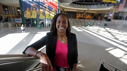 "<p>               Tamika Catchings poses for a photo inside Banker's Life Fieldhouse, Wednesday, June 26, 2019, in Indianapolis. Nearly three years since Catchings played her final basketball game, the 39-year-old former star is establishing herself in a variety of new roles: Business owner and front-office executive with the Indiana Fever, not to mention being a contestant on NBC's popular ""American Ninja Warrior."" (AP Photo/Darron Cummings)             </p>"