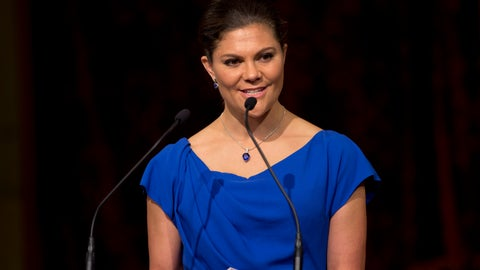 """<p>               FILE - In this Wednesday, April 26, 2017 file photo, Sweden's Crown Princess Victoria delivers a speech during a ceremony marking the OPCW's 20th anniversary in The Hague, Netherlands. Sweden is sending its heir to the throne and head of government to Switzerland to support its bid in the 2026 Winter Olympics host vote on Monday, June 24, 2019. The Stockholm-Are 2026 campaign says Crown Princess Victoria is """"the nation's most popular public figure"""" and will join the delegation in Lausanne. (Peter Dejong, Pool Photo via AP, File)             </p>"""