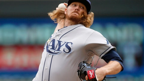 <p>               Tampa Bay Rays pitcher Ryne Stanek throws against the Minnesota Twins in the first inning of a baseball game Thursday, June 27, 2019, in Minneapolis. (AP Photo/Jim Mone)             </p>