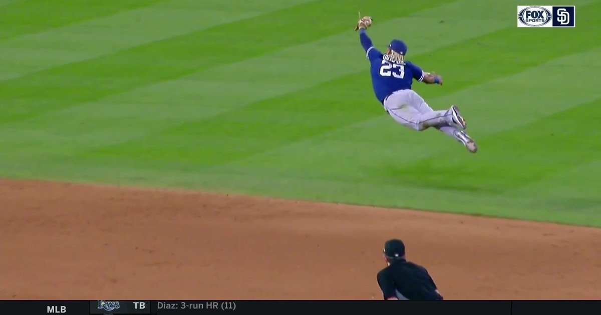 MUST WATCH: Fernando Tatis Jr lays out for sparkling grab