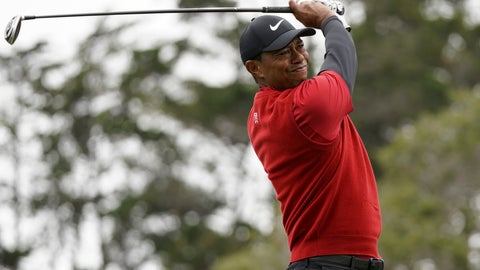 <p>               Tiger Woods watches his tee shot on the second hole during the final round of the U.S. Open Championship golf tournament, Sunday, June 16, 2019, in Pebble Beach, Calif. (AP Photo/Carolyn Kaster)             </p>