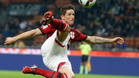 <p>               FILE - In this Oct. 26, 2014, file photo, AC Milan's Fernando Torres makes an attempt to score with an acrobatic kick during a Serie A soccer match between AC Milan and Fiorentina, at the San Siro stadium in Milan, Italy. Former Spain striker Torres announced on social media on Friday, June 21, 2019, he is retiring after an 18-year career that included stints at Premier League sides Liverpool and Chelsea and Italy's AC Milan. (AP Photo/Luca Bruno, File)             </p>