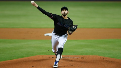 <p>               Miami Marlins' Pablo Lopez delivers a pitch during the first inning of the team's baseball game against the Pittsburgh Pirates, Saturday, June 15, 2019, in Miami. (AP Photo/Wilfredo Lee)             </p>