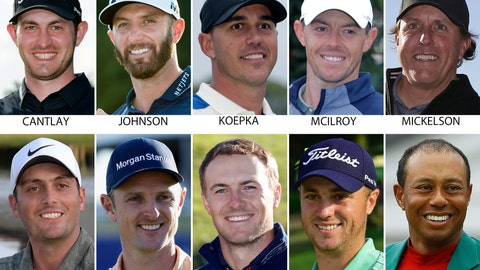 <p>               FILE - These are 2019 file photos showing 10 contenders for the U.S. open golf tournament. They are: Patrick Cantlay, Dustin Johnson, Brooks Koepka, Rory McIlroy, Phil Mickelson, Francesco Molinari, Justin Rose, Jordan Spieth, Justin Thomas and Tiger Woods. (AP Photo/File)             </p>