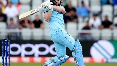 <p>               England's captain Eoin Morgan bats during the Cricket World Cup match between England and Afghanistan at Old Trafford in Manchester, England, Tuesday, June 18, 2019. (AP Photo/Rui Vieira)             </p>