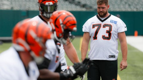 <p>               Cincinnati Bengals offensive tackle Jonah Williams stands on the sidelines during practice at the team's NFL football facility, Wednesday, June 12, 2019, in Cincinnati. (AP Photo/John Minchillo)             </p>