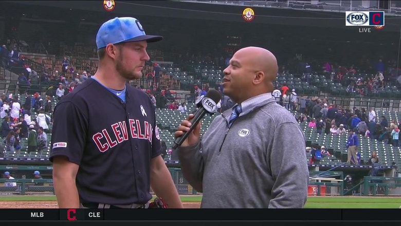 Trevor Bauer reflects on his first complete game shut out.
