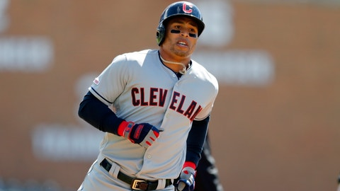 <p>               FILE - In this Tuesday, April 9, 2019, file photo, Cleveland Indians' Leonys Martin rounds third base after his solo home run during the first inning of a baseball game against the Detroit Tigers in Detroit. The Cleveland Indians have designated outfielder Leonys Martín for assignment, Saturday, June 22, 2019. Martín, who overcame a life-threatening bacterial infection last summer, batted .199 with nine home runs and 19 RBIs in 65 games.(AP Photo/Carlos Osorio, File)             </p>
