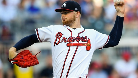 <p>               Atlanta Braves' pitcher Sean Newcomb pitches against the Philadelphia Phillies during the first inning of a baseball game Saturday, June 15, 2019, in Atlanta. (AP Photo/John Amis)             </p>