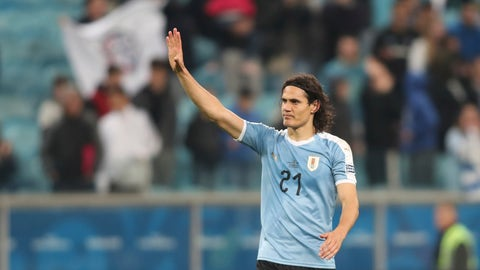 <p>               Uruguay's Edinson Cavani waves to fans at the end of a Copa America Group C soccer match at the Arena Gremio in Porto Alegre, Brazil, Thursday, June 20, 2019. (AP Photo/Edison Vara)             </p>