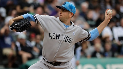 <p>               New York Yankees starting pitcher James Paxton throws against the Chicago White Sox during the first inning of a baseball game in Chicago, Sunday, June 16, 2019. (AP Photo/Nam Y. Huh)             </p>
