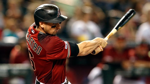 <p>               Arizona Diamondbacks' Tim Locastro hits an RBI single against the San Francisco Giants in the third inning during a baseball game, Sunday, June 23, 2019, in Phoenix. (AP Photo/Rick Scuteri)             </p>