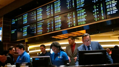 <p>               This Oct. 25, 2018 photo shows employees at the new sports book at the Tropicana casino in Atlantic City N.J., preparing to take bets moments before it opened. NBA and MLB executives staunchly believe their leagues deserve a cut of sports betting revenue. But their problem has been convincing anyone else in the sports betting world. (AP Photo/Wayne Parry, File)             </p>