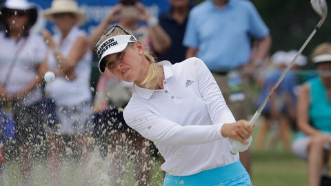 <p>               Jessica Korda hits the ball on the ninth hole during the second round of the U.S. Women's Open golf tournament, Friday, May 31, 2019, in Charleston, S.C. (AP Photo/Steve Helber)             </p>