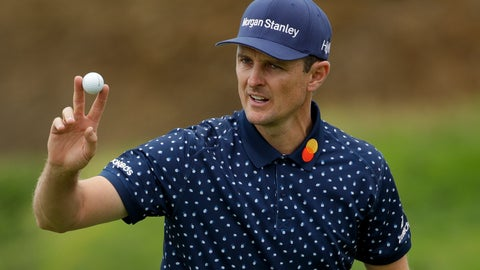 <p>               Justin Rose, of England, waves after his putt on the eighth hole during the second round of the U.S. Open golf tournament Friday, June 14, 2019, in Pebble Beach, Calif. (AP Photo/Marcio Jose Sanchez)             </p>