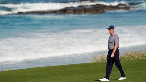 <p>               Ernie Els, of South Africa, walks along the fairway on the 10th hole during a practice round for the U.S. Open Championship golf tournament Tuesday, June 11, 2019, in Pebble Beach, Calif. (AP Photo/David J. Phillip)             </p>
