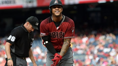 <p>               Arizona Diamondbacks' Ketel Marte celebrates his home run during the fourth inning of a baseball game against the Washington Nationals, Saturday, June 15, 2019, in Washington. (AP Photo/Nick Wass)             </p>