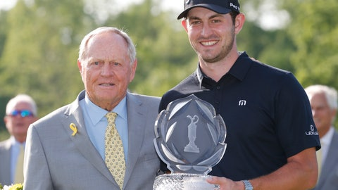 <p>               Jack Nicklaus, left, presents Patrick Cantlay with the trophy after Cantlay won the Memorial golf tournament Sunday, June 2, 2019, in Dublin, Ohio. (AP Photo/Jay LaPrete)             </p>