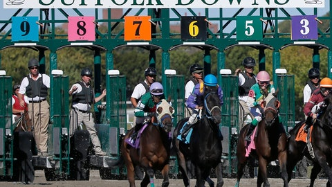 <p>               FILE -- In this Sept. 22, 2014, file photo, gate crew members watch the start of a race at Suffolk Downs in Boston. The track hosts its last live racing the weekend of Saturday and Sunday, June 29-30. (AP Photo/Elise Amendola, File)             </p>