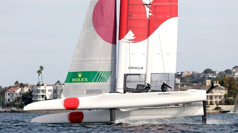 <p>               FILE - In this Feb. 16, 2019, file photo, the Japan F50 catamaran, skippered by Australian Nathan Outteridge, turns durning the final match race against Australia during their SailGP race on the harbor in Sydney, Australia. In the fledging SailGP global league, there's a nice little rivalry developing between Australian skippers Tom Slingsby and Nathan Outteridge. Slingsby's Team Australia has beaten Outteridge's Team Japan in the match race finals of the first two regattas in the series, which visits New York on Friday and Saturday, June 21-22. (AP Photo/Rick Rycroft, File)             </p>